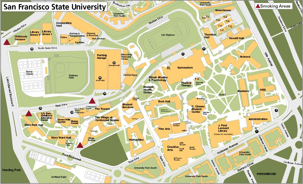 Sf State Campus Map Campus turns up the heat on smoke free policy   SF State News
