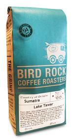 A bag of coffee from Bird Rock Coffee Roasters.