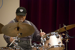 A photo of Jimmy Cobb at the drums