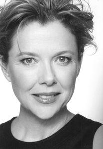 A photo of Golden Globe Award winner and SF State alumna Annette Bening.