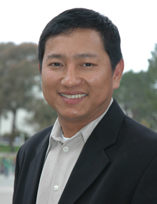 A photo of Kyaw Min Oo, hood recipient of the College of Ethnic Studies