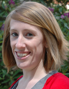 A photo of Jessica Sederquist, hood recipient for the College of Humanities