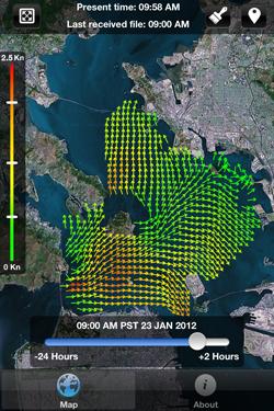 A screenshot of the Bay Currents app.