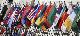 Photo of various national flags