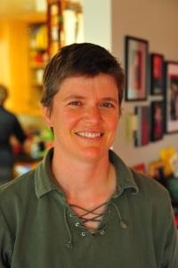 A photo of Laura Burrus, professor of biology