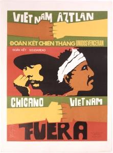 Vietnam Aztlán, a 1972 poster by the artist Malaquias Montoya