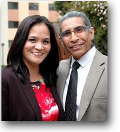 Photo of student Marilyn Bunag with TAB Program Coordinator Paul Mendez.