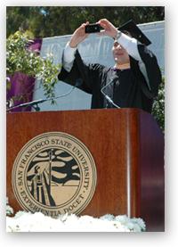 A photo of 2012 Alumnus of the Year Jose Antonio Vargas speaking