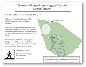 An image of an informational panel for Thimlich Ohinga