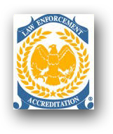 The logo for the Commission on Accreditation for Law Enforcement Agencies.